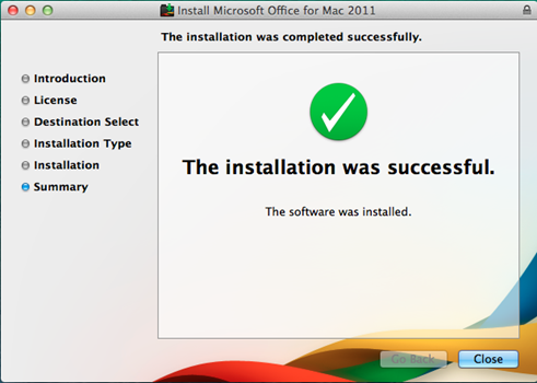 installation process screenshot
